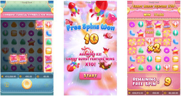 FREE SPINS FEATURE Candy Burst