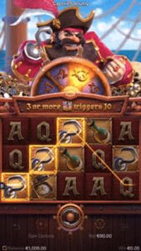 Captains_Bounty_Feature free spins คูณ3เท่า